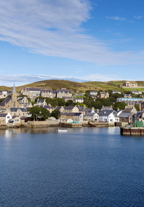 The town of Stromness in Orkney