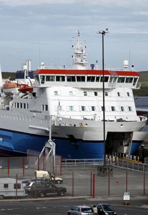 Northlink Ferry at the Holmsgarth Ferry Terminal, Lerwick, Mainland, Shetland.
